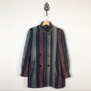 Vintage Wool Coat Double Breasted Pea Coat